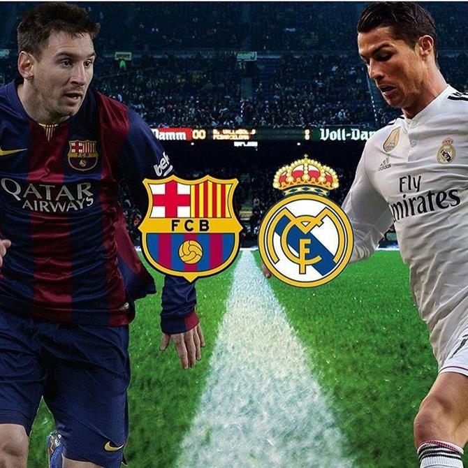 El Clasico Madrid vs Barcelona Football