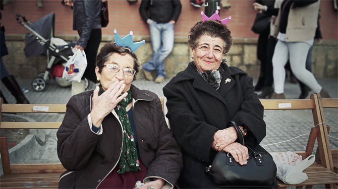 Two ladies at Cadiz Carnival