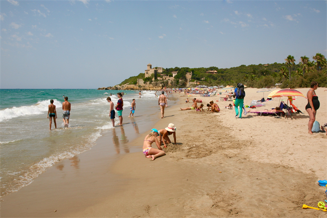 Tamarit beach and castle, Tarragona