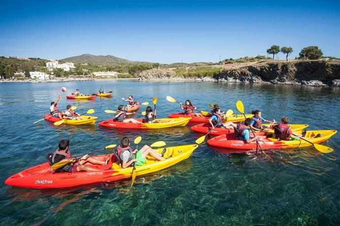 Kayaking, Costa Brava