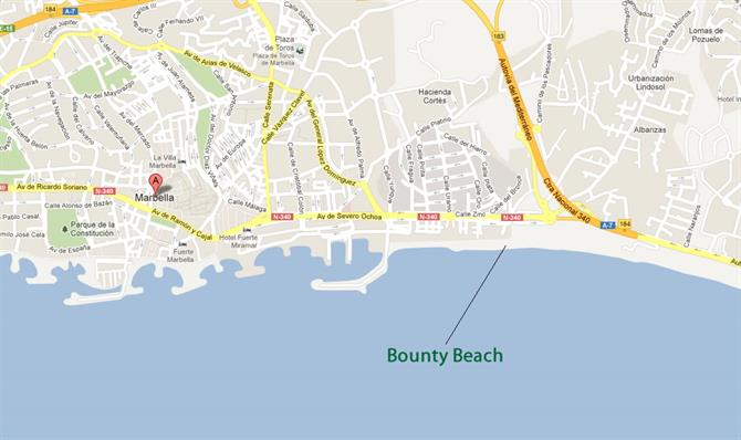 Bounty beach map