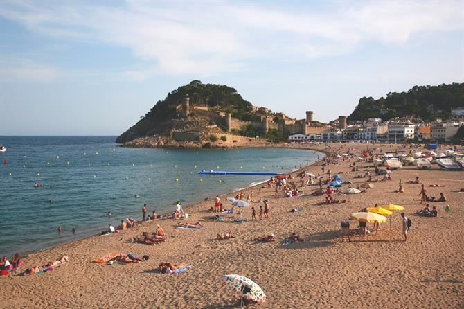 Playa Grande in Tossa de Mar