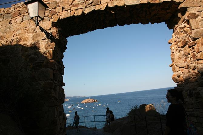View from Tossa de Mar