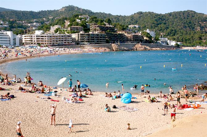 Strand in Tossa de Mar