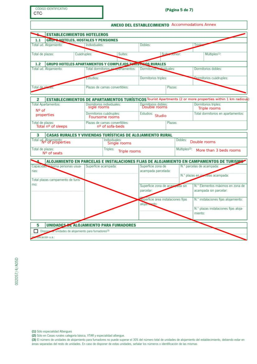 Holiday Rental Application Form Andalucia pg 5