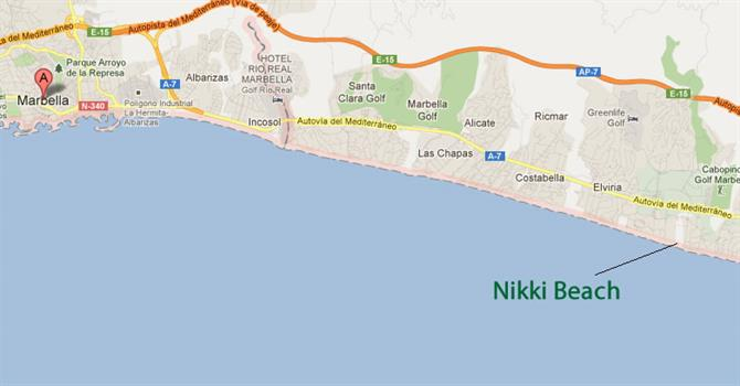 Nikki beach Marbella map