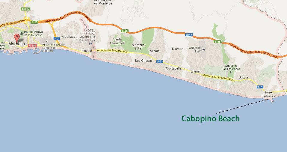 Best beaches in Marbella Cabopino beach