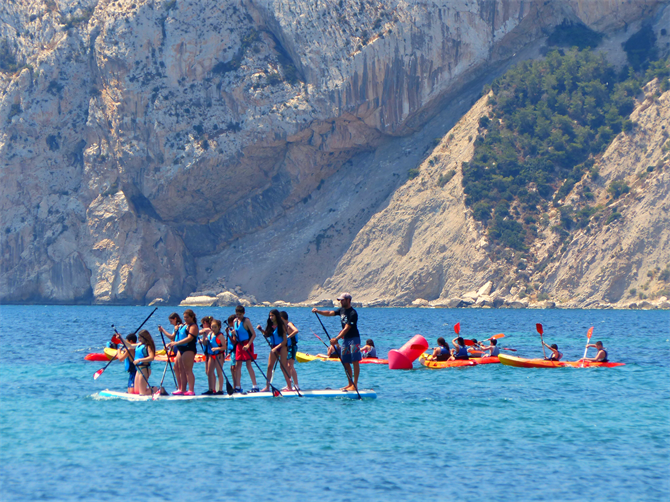 Paddleboarding, Calpe - Costa Blanca (Espagne)