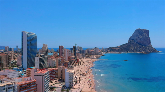 Calpe with the Peñón de Ifach in the background