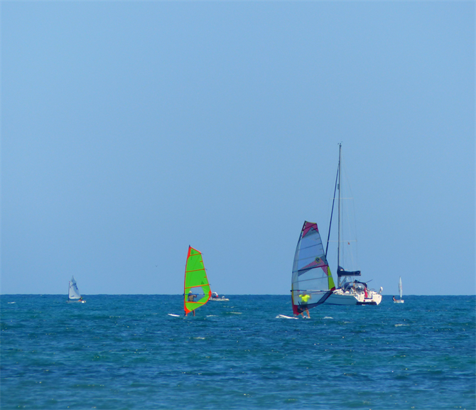 Windsurfing at Playa Lisa