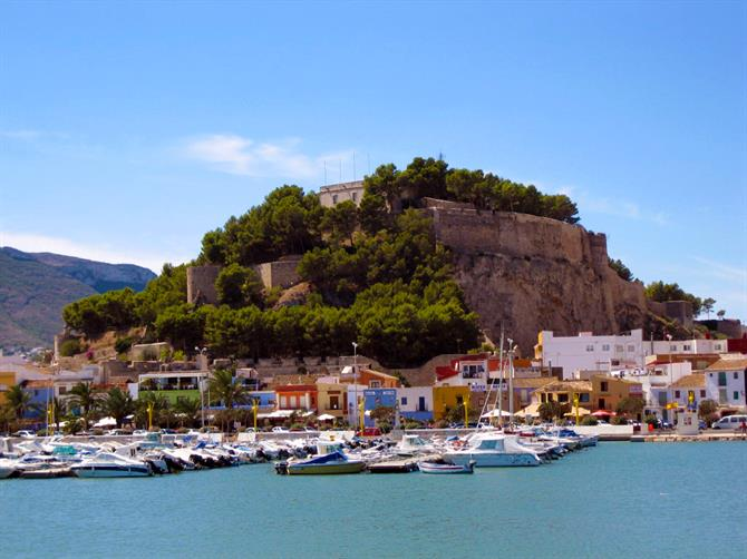 Denia Castle view