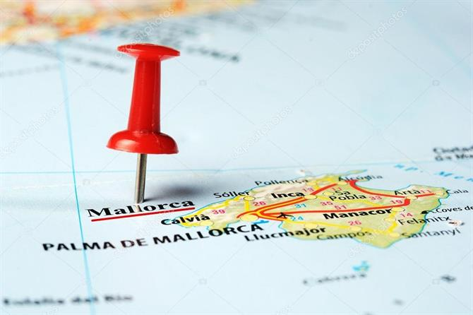 Mallorca map pin