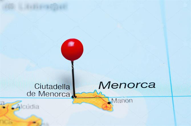 Menorca map pin