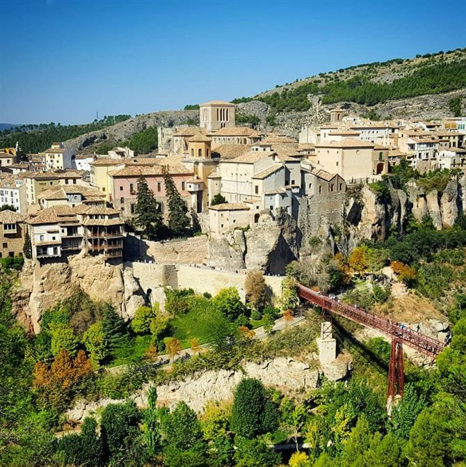 View of Cuenca and its famous hanging houses
