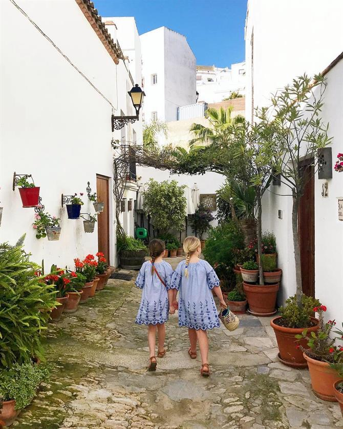 Children on holiday in Spain