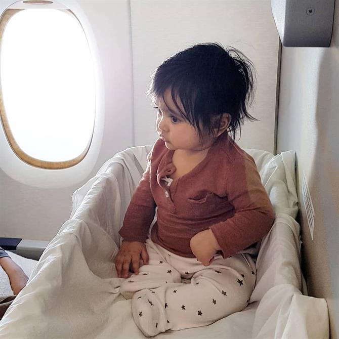 Cot on the plane