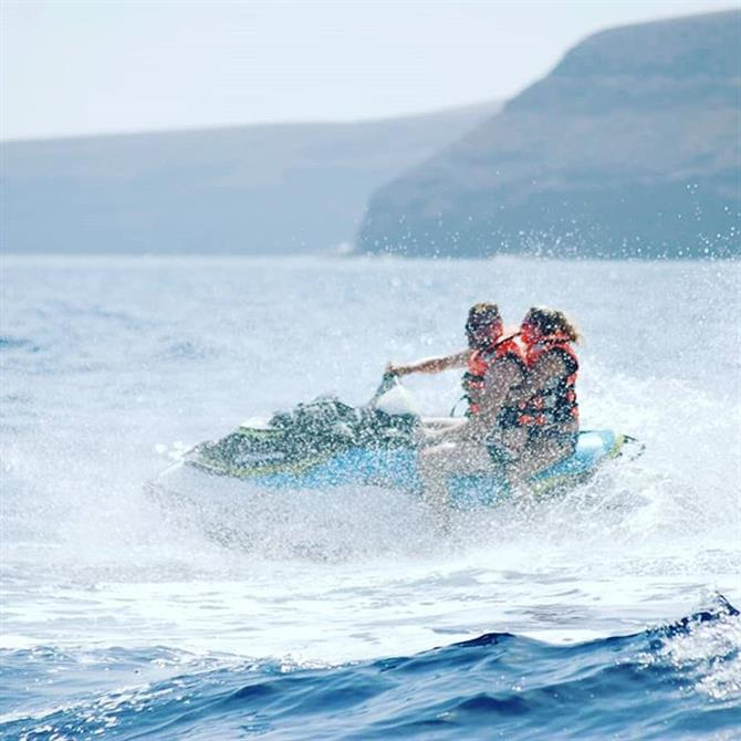 Jet skiing in Lanzarote