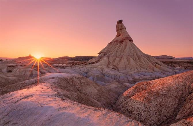 Bardenas Reales at dawn, Navarra