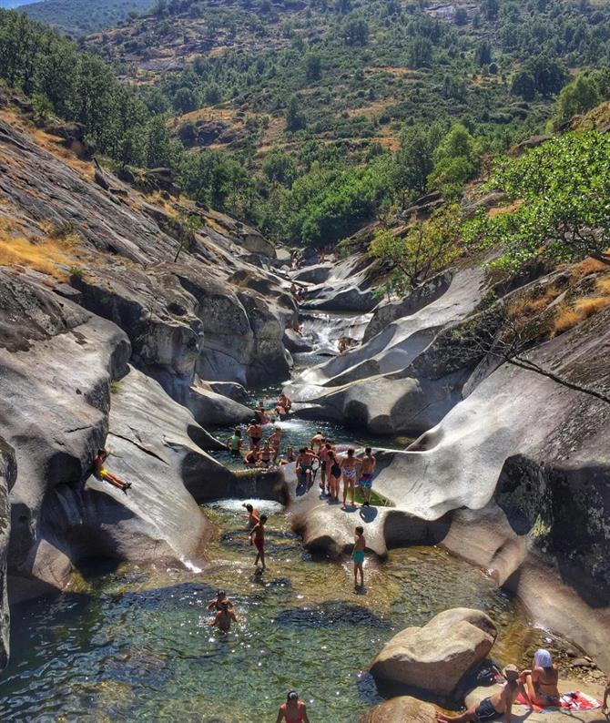 Natural pools of Valle del Jerte, Los Pilones - 'Throat of Hell'