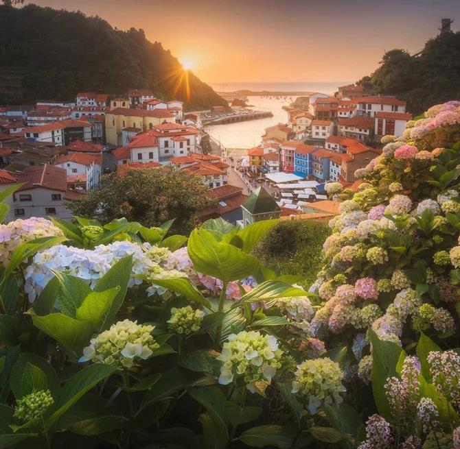 Cudillero at sunset, Asturias