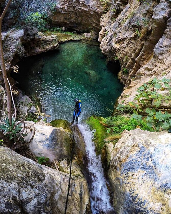 Canyoning, Andalusia