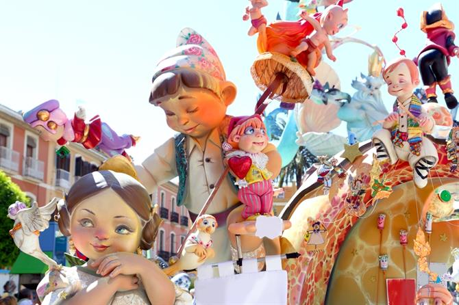 Las Fallas in Valencia