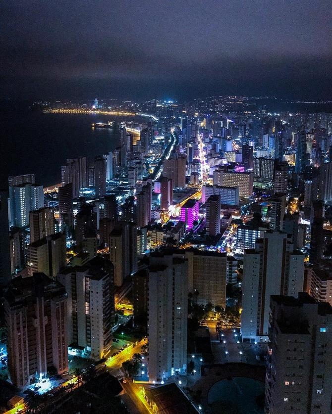 Benidorm at night