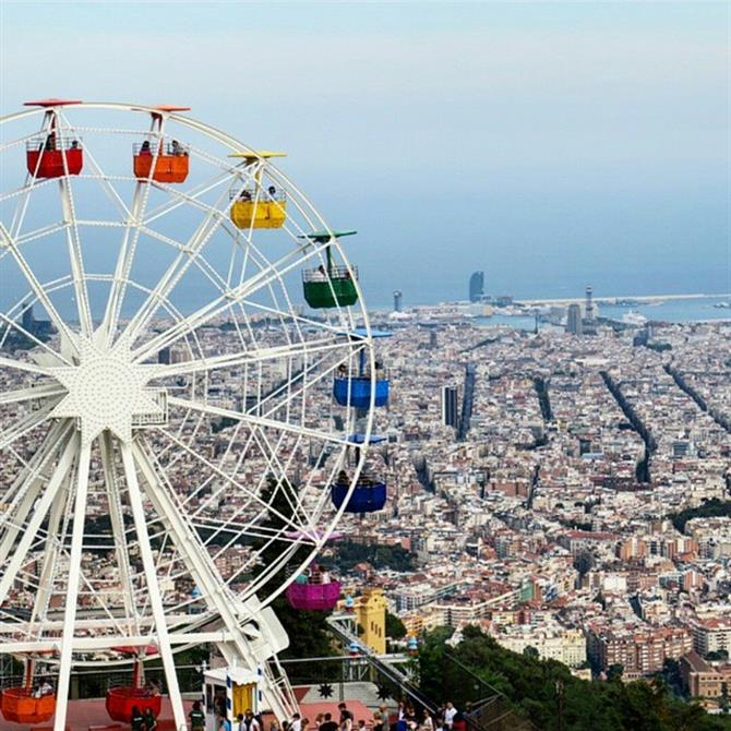Le parc d'attractions Tibidabo à Barcelone