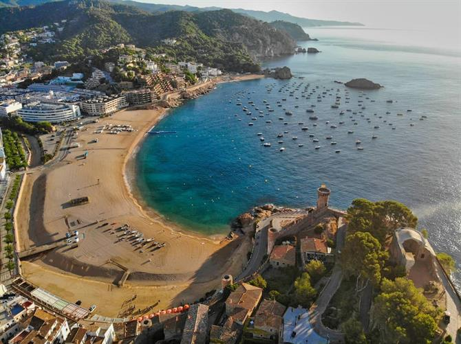 Tossa de Mar is a great beach destination on the Costa Brava