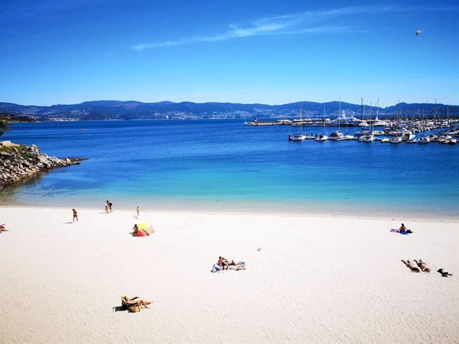 Sanxenxo is a popular beach destination in Galicia