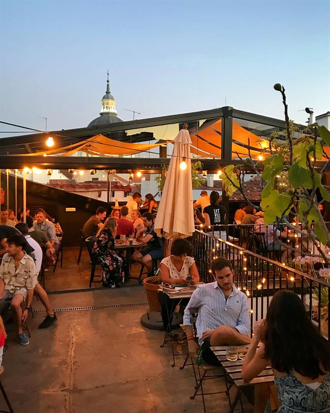The Hat rooftop bar in Madrid