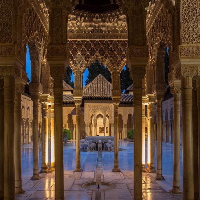 Inside the Alhambra Palace in Granada