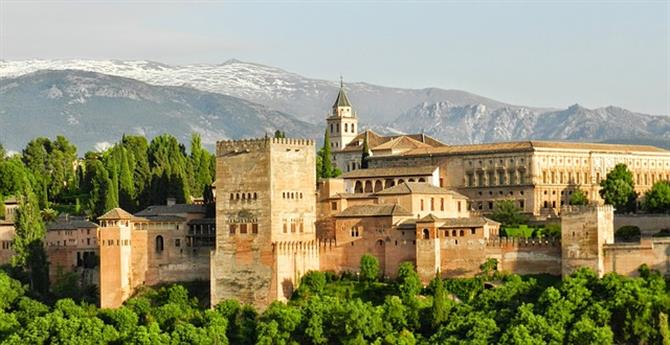 View of the Alhambra Palace, Granada