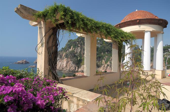Blanes - terrace and botanic garden