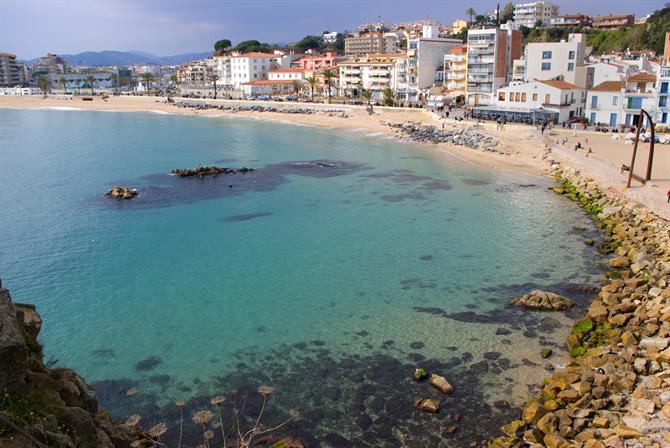 Blanes view from the beach