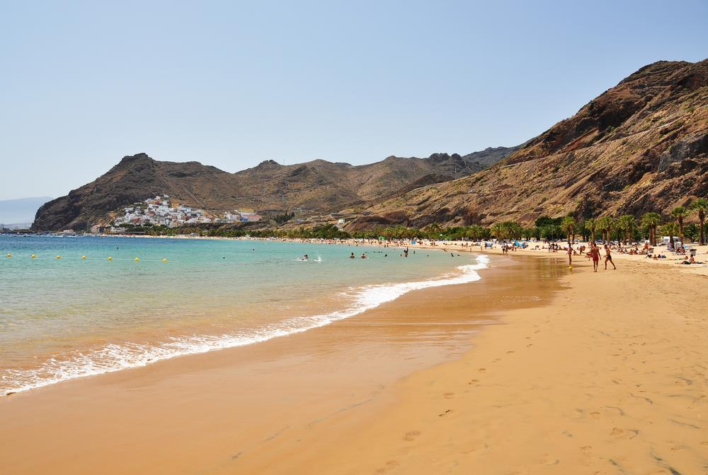 The best beaches in tenerife for Best beach near la