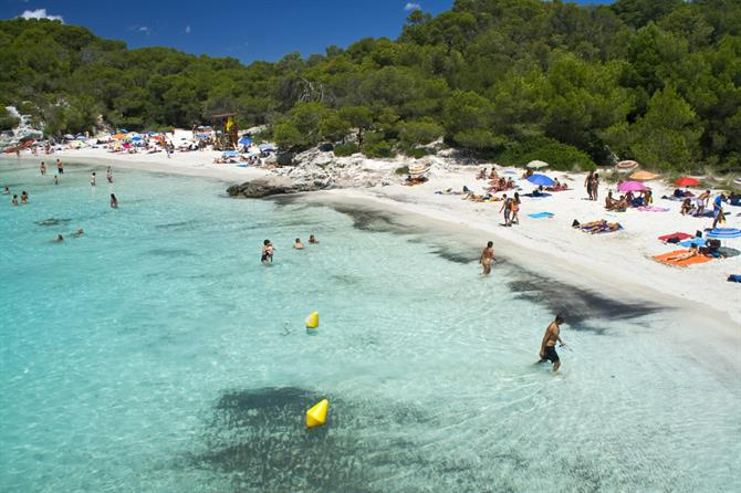 best beaches in Spain - Cala Turqueta in Menorca