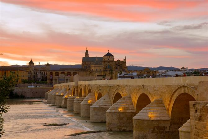 Cordoba - Mezquita and roman bridge view