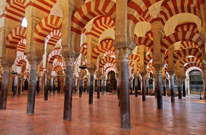 Interior of the Mezquita, or Mosque of Cordoba - Andalusia (Spain)