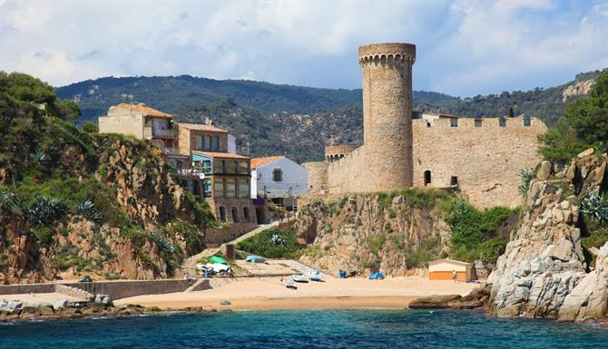City wall of Tossa de Mar