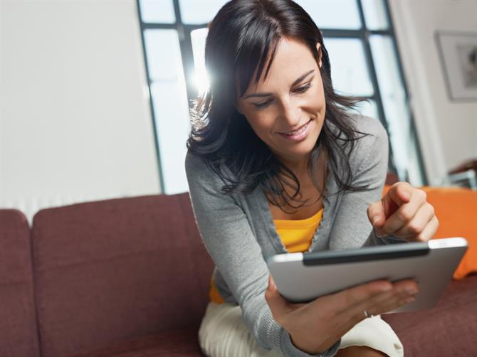 Woman with a tablet