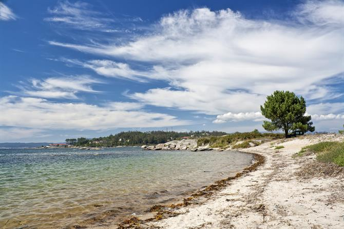 Gradin beach on Arousa island