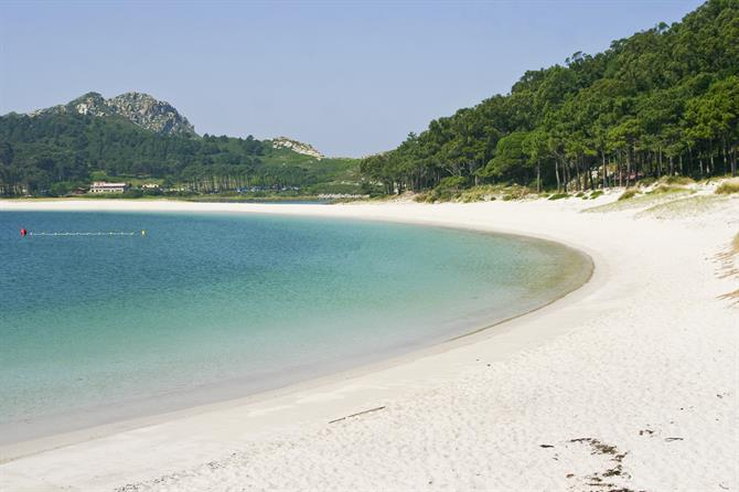 Rodas beach in Cies islands natural park