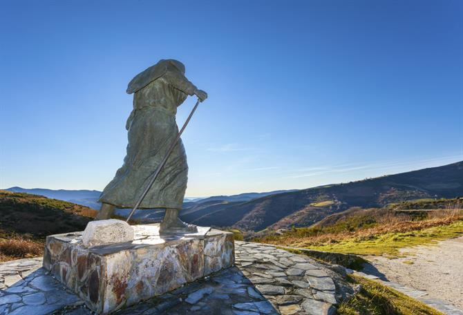 Monument to pilgrims on the Camino de Santiago,Lugo