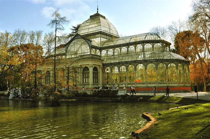 Crystal Palace in the Retiro Park in Madrid