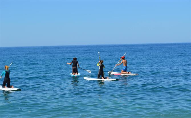 Paddle surfing Spain