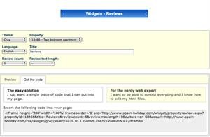 Review widget embed code