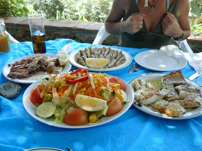 Fisk lunch Playa El Cañuelo