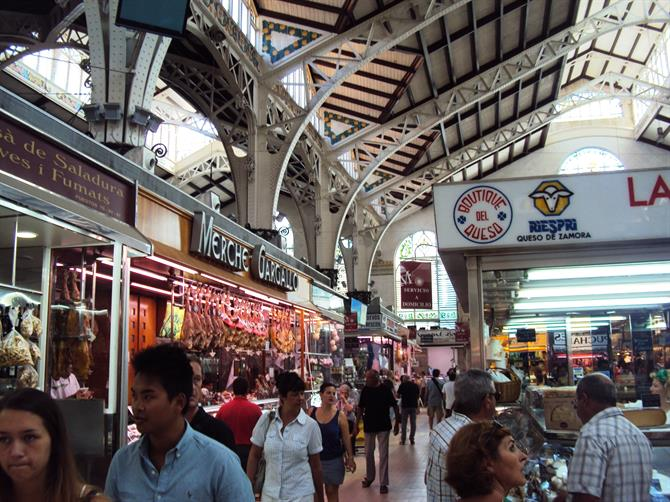 The historic Central Market of Valencia