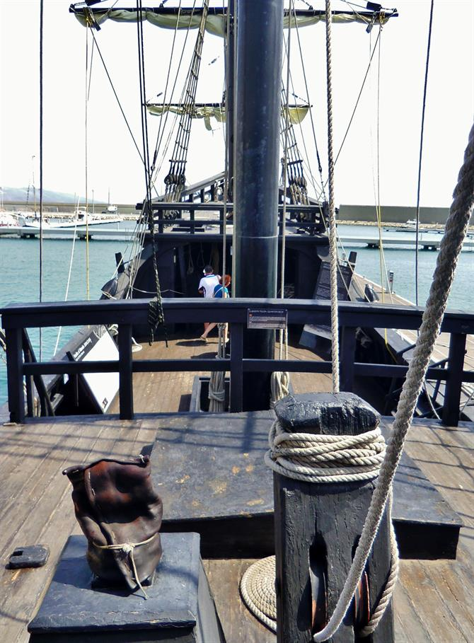 Aboard the wooden deck of Nao Victoria